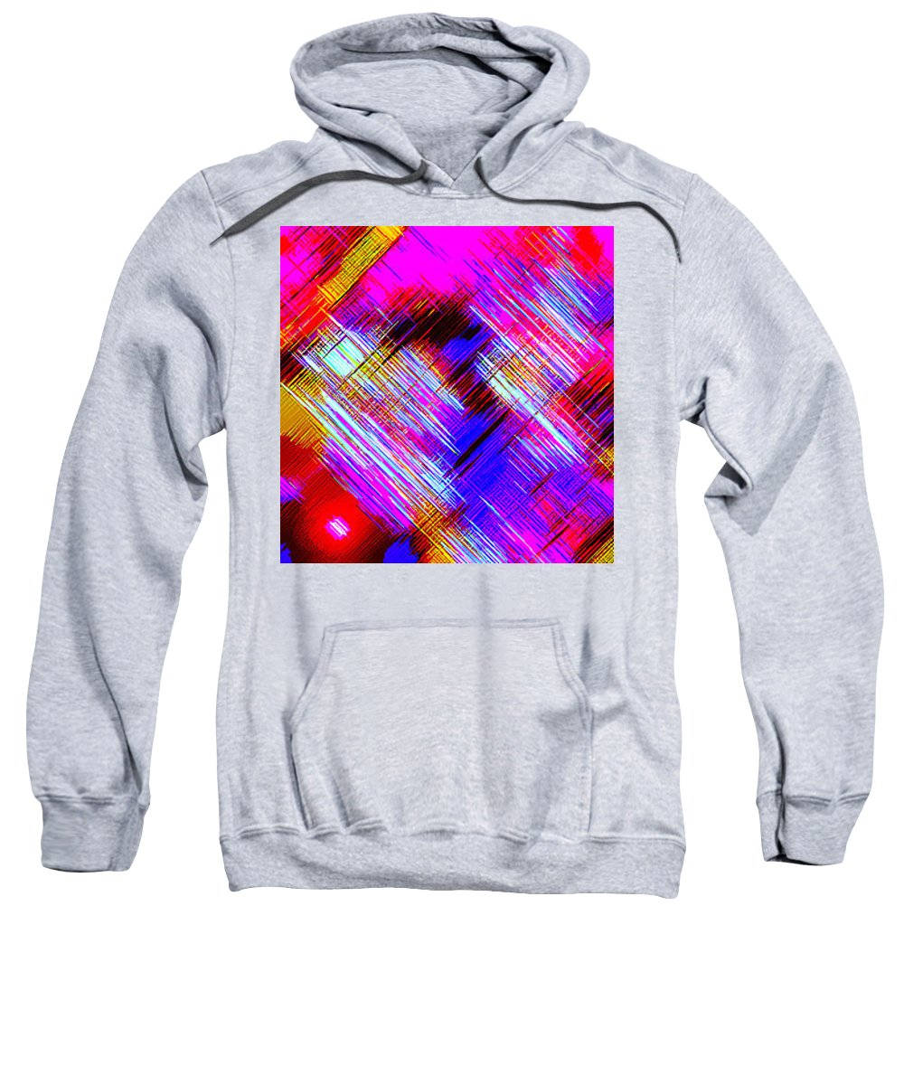 Moveonart! Digital Gallery Sweatshirt featuring the digital art Moveonart Colorful Fast Paced Evening by Jacob Kanduch
