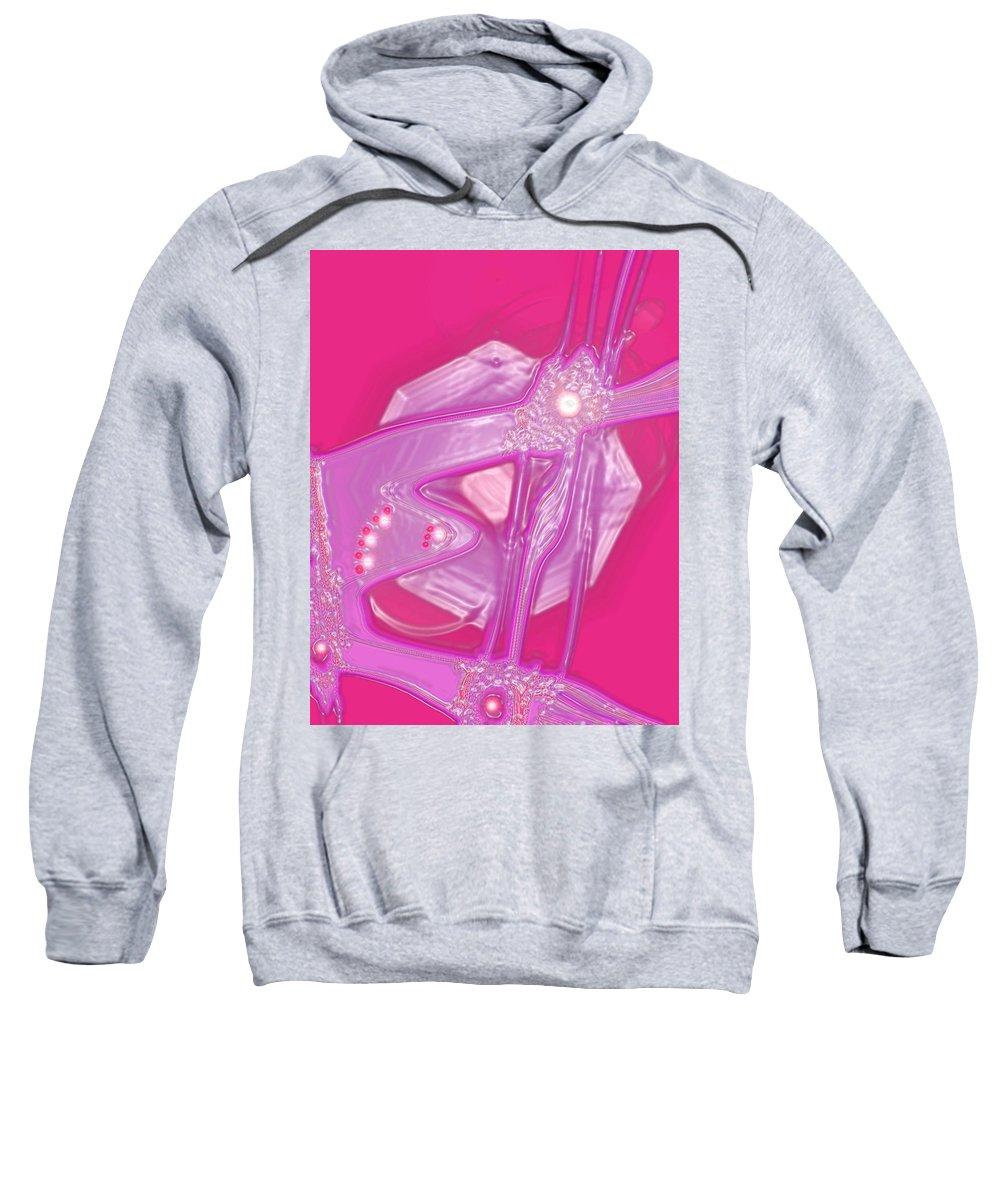 Moveonart! Digital Gallery Sweatshirt featuring the digital art Moveonart Creative Peaceful Creature Seven by Jacob Kanduch