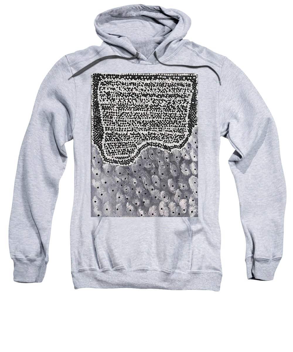 Moveonart! Digital Gallery Sweatshirt featuring the painting Moveonart Elements by Jacob Kanduch