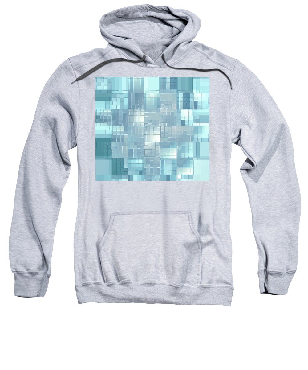 Moveonart! New York / San Francisco / Oklahoma City Jacob Kanduch Sweatshirt featuring the digital art Moveonart Energy Efficient Urban Development by Jacob Kanduch