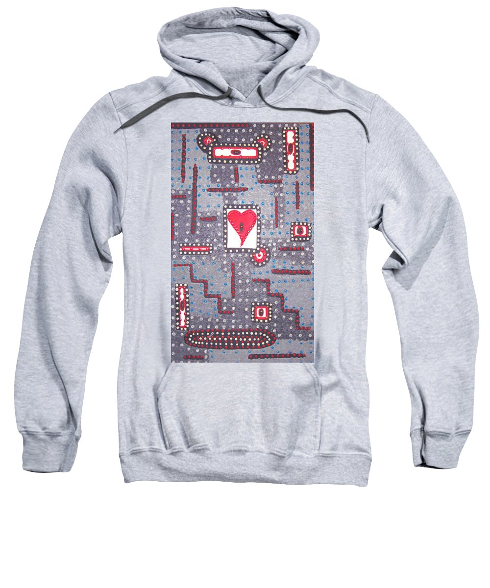Moveonart! Digital Gallery Sweatshirt featuring the painting Moveonart Heart Connection by Jacob Kanduch