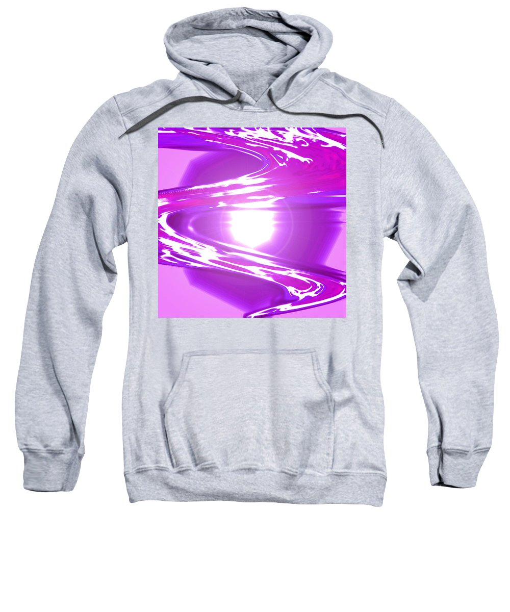 Moveonart! Digital Gallery Sweatshirt featuring the digital art Moveonart I Call Forth The Violet Wave by Jacob Kanduch