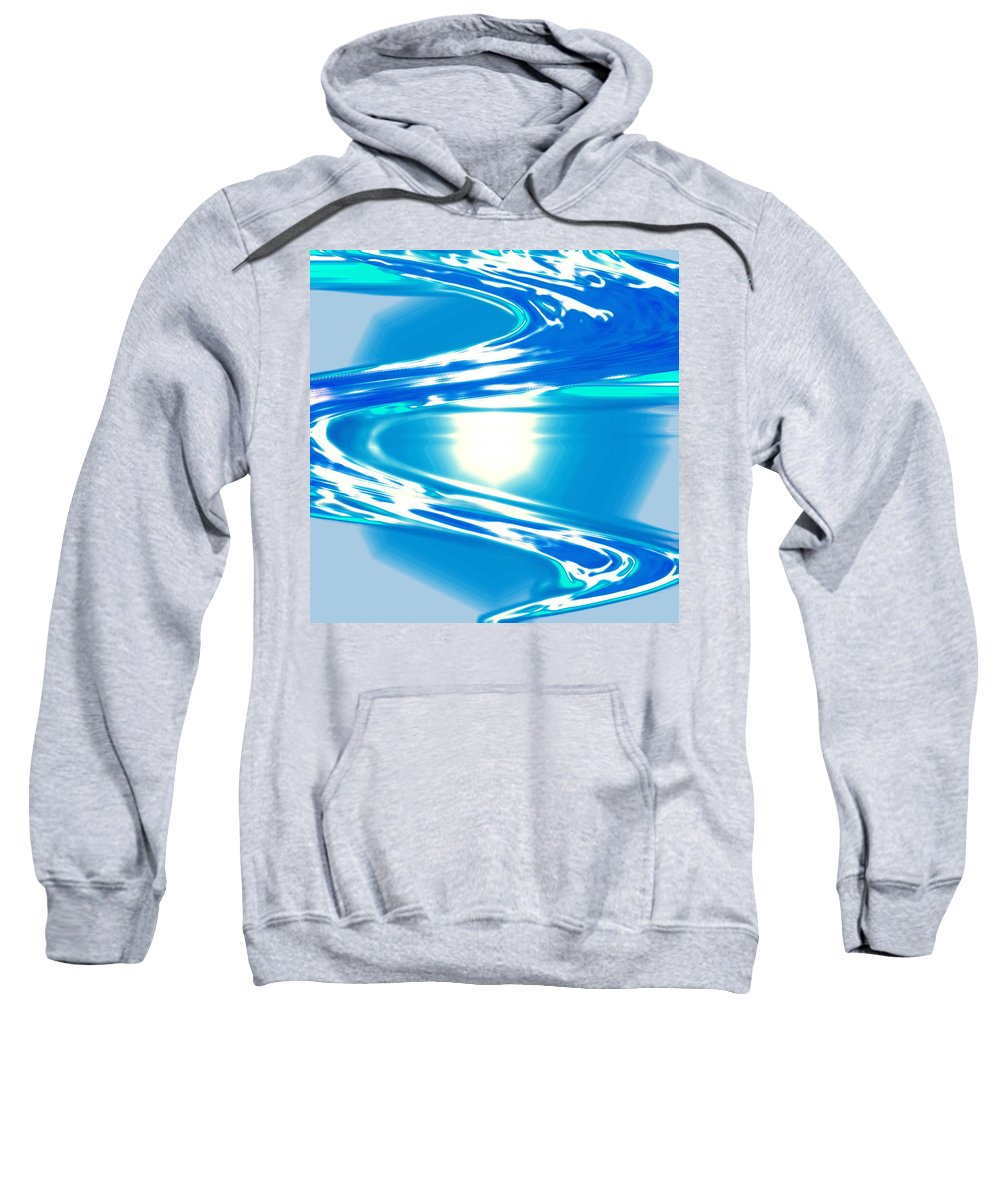 Moveonart! Digital Gallery Sweatshirt featuring the digital art Moveonart Impressive Wave Of Renewal Coming by Jacob Kanduch