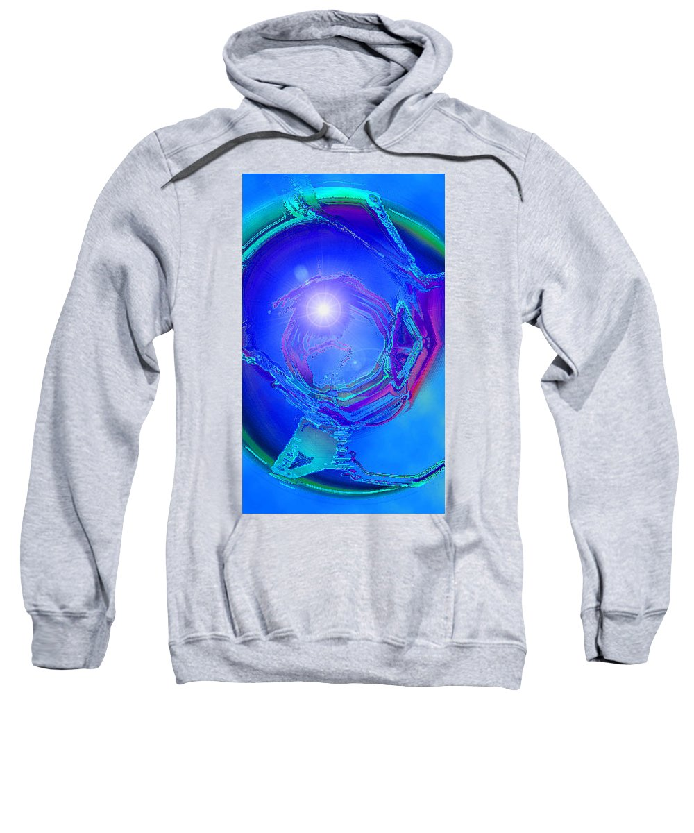 Moveonart! Digital Gallery Sweatshirt featuring the digital art Moveonart In Light Of The One Moment Time Out by Jacob Kanduch