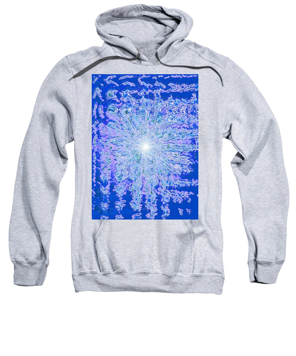Moveonart! Digital Gallery Sweatshirt featuring the digital art Moveonart Intense Cool Centering by Jacob Kanduch