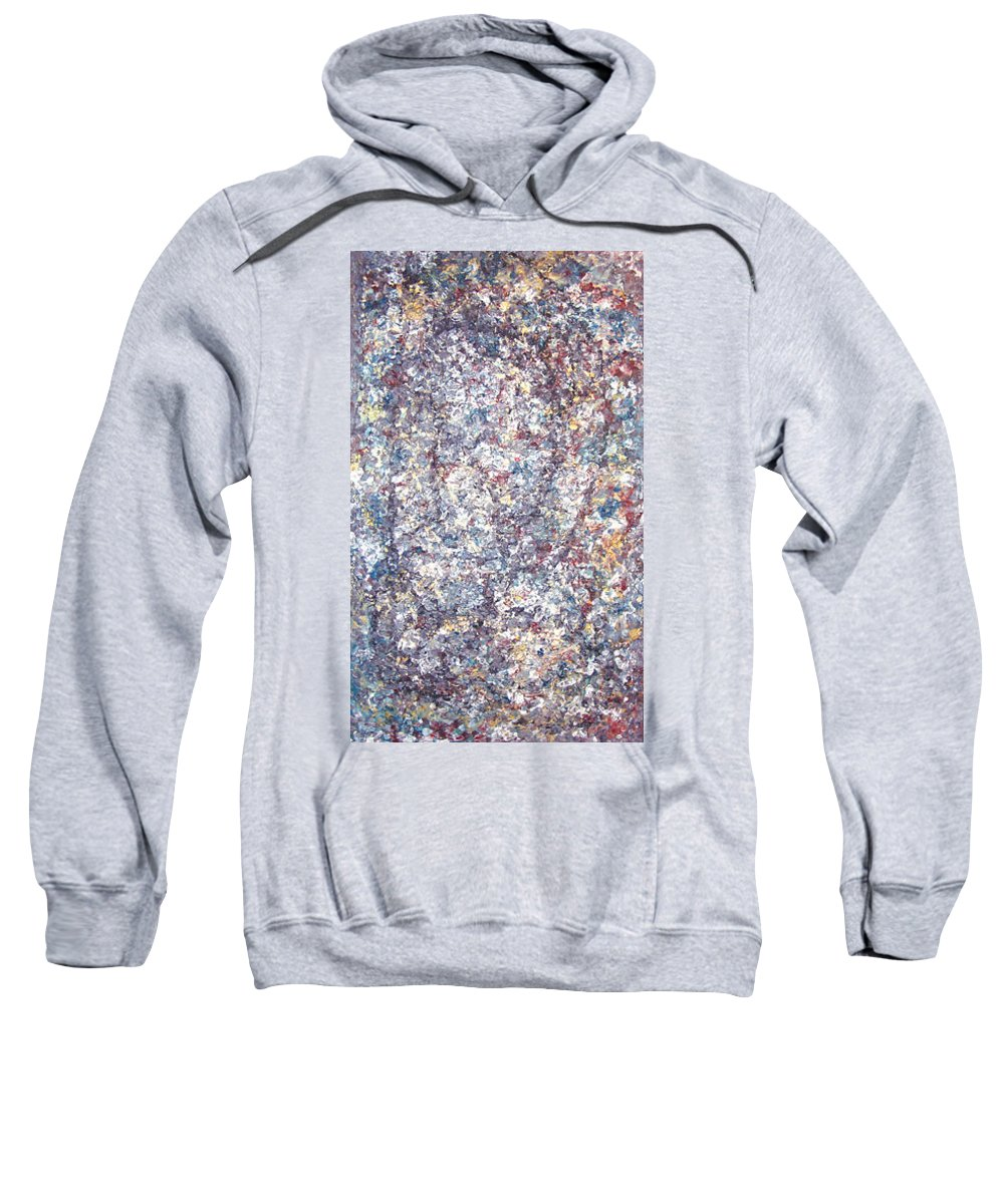 Moveonart! Digital Gallery Sweatshirt featuring the painting Moveonart Just Thinking Color Therapy With Texture by Jacob Kanduch