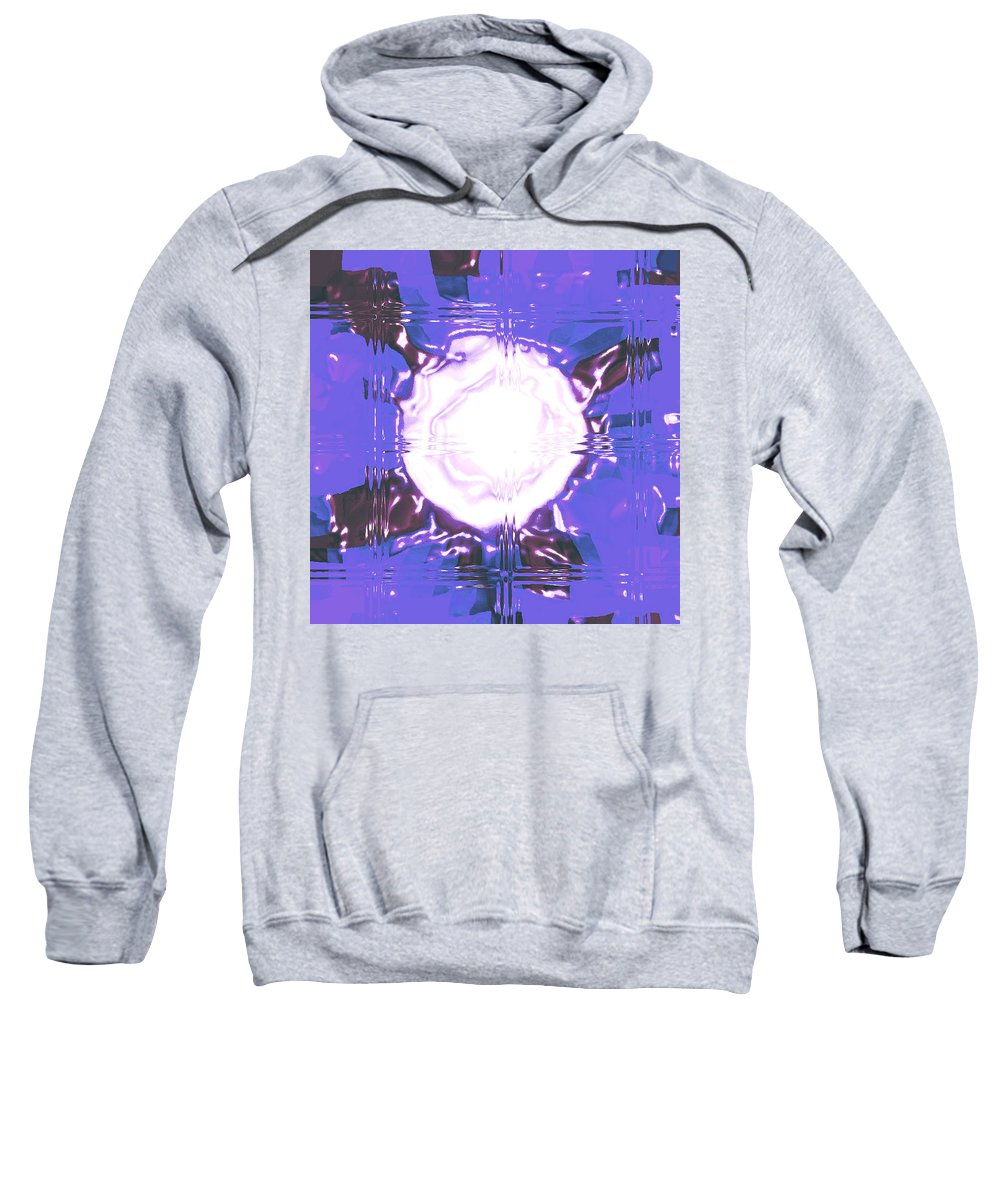 Moveonart! Digital Gallery Sweatshirt featuring the digital art Moveonart Light Saturation With Blue by Jacob Kanduch