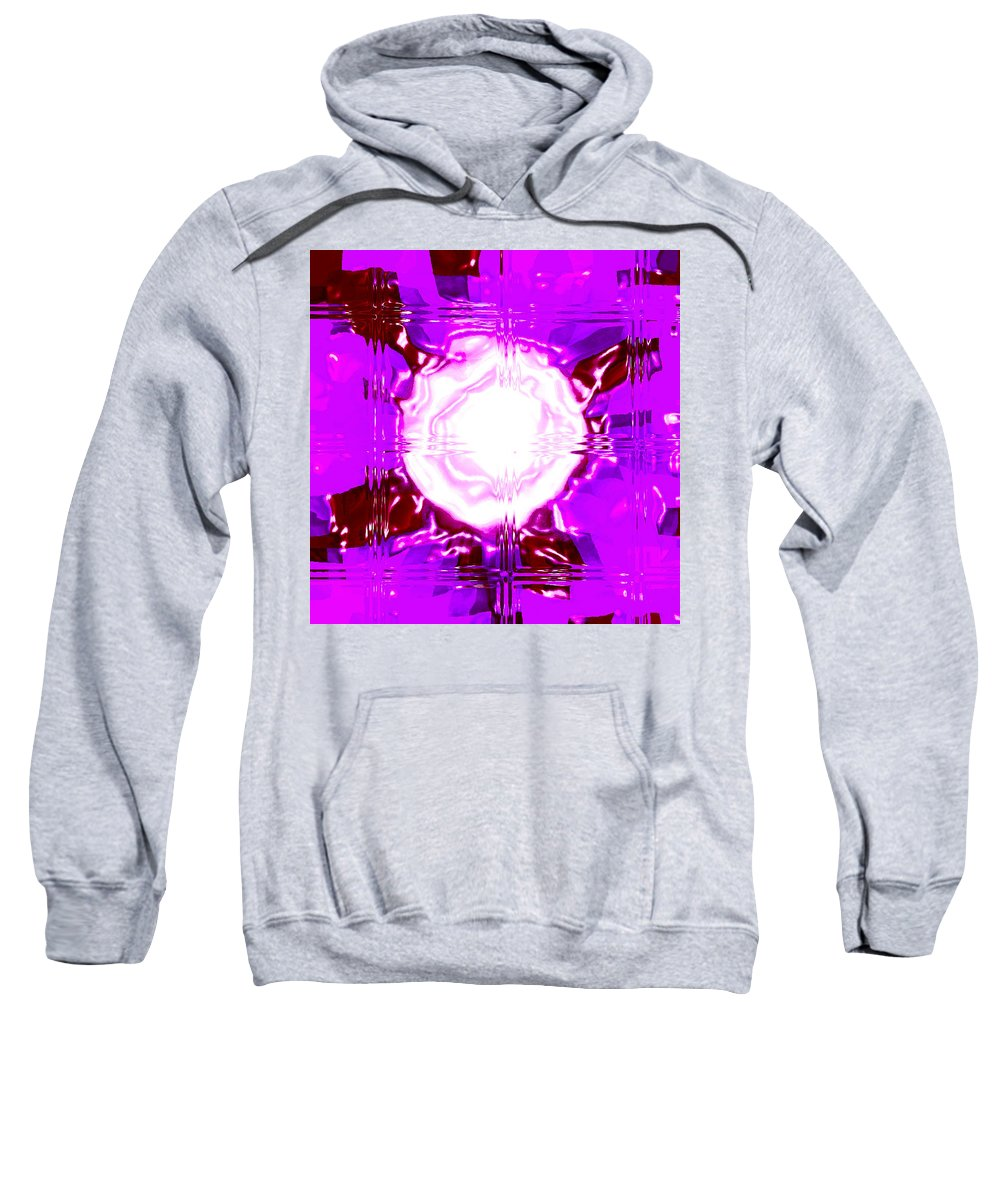 Moveonart! Digital Gallery Sweatshirt featuring the digital art Moveonart Light Saturation With Pink by Jacob Kanduch