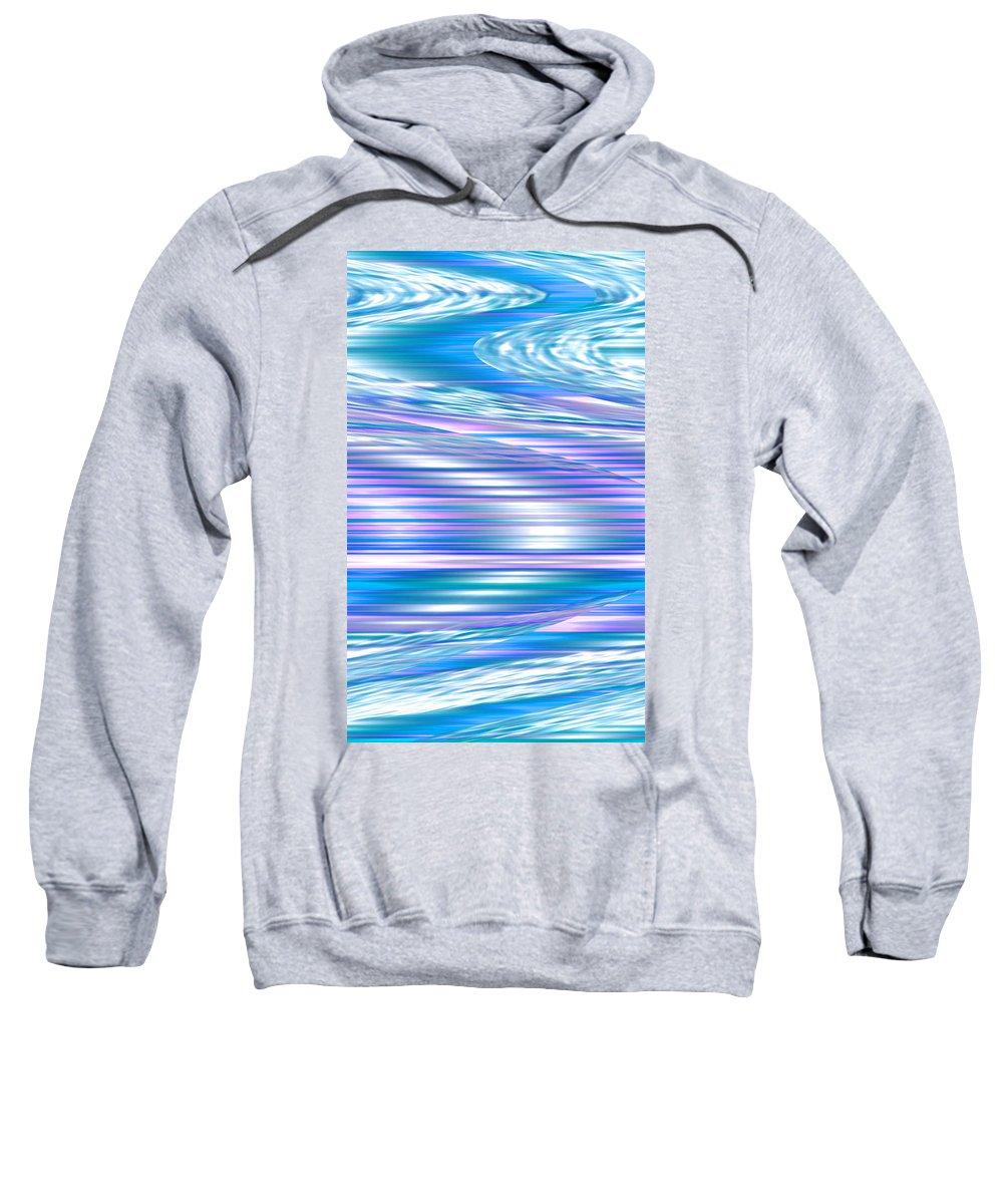 Moveonart! Digital Gallery Sweatshirt featuring the digital art Moveonart Longing For Waves Of Renewal by Jacob Kanduch