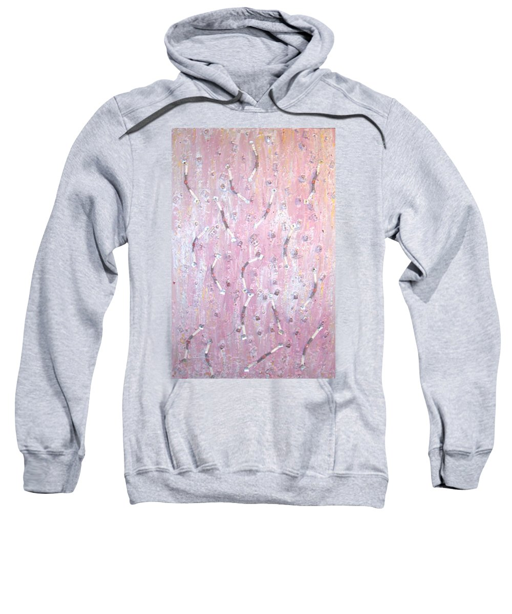 Moveonart! Digital Gallery Sweatshirt featuring the painting Moveonart Music And Art Connection Pink by Jacob Kanduch