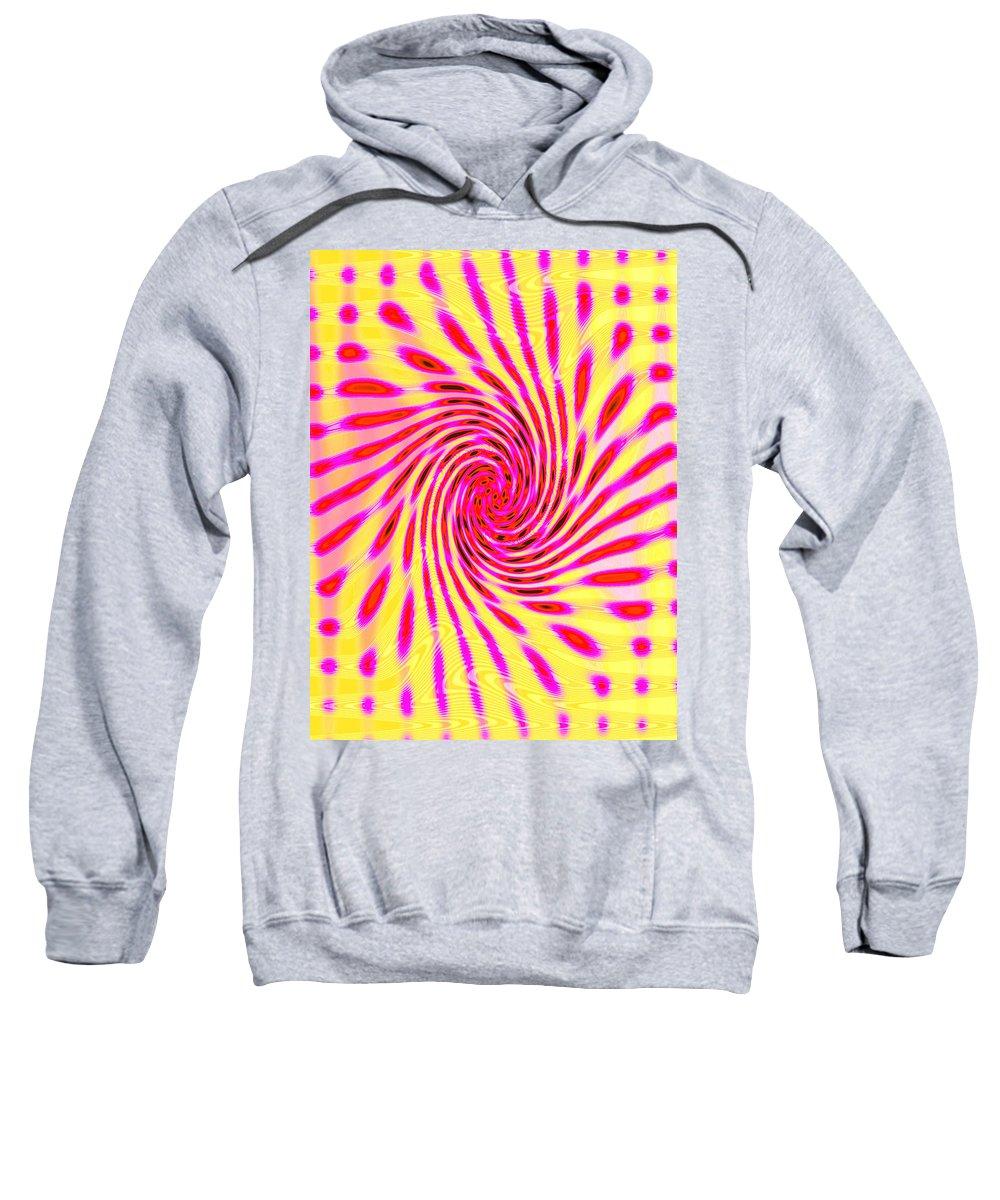 Moveonart! Global Gathering. San Francisco / New York Sweatshirt featuring the digital art Moveonart Neon Twist 1 by Jacob Kanduch