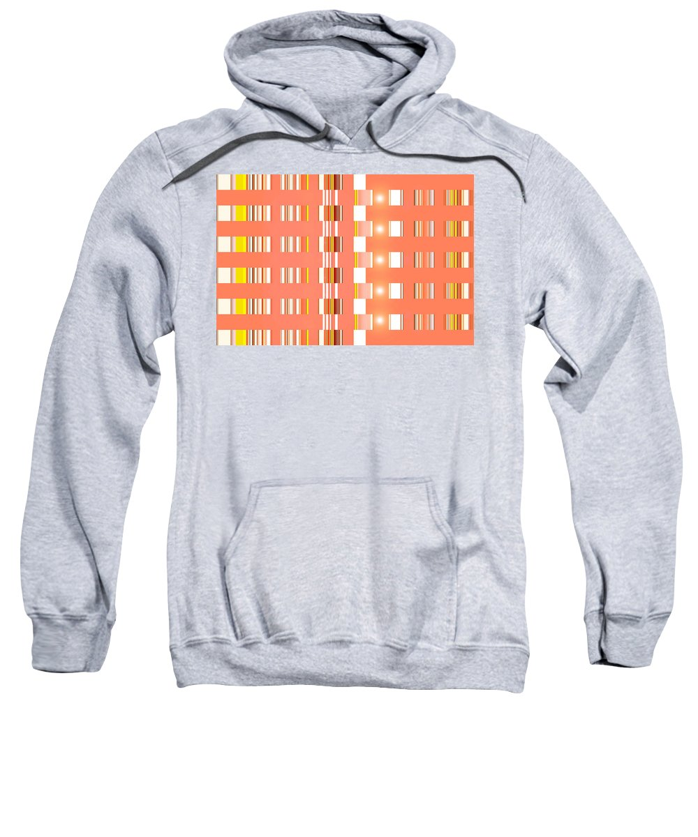 Moveonart! Digital Gallery Sweatshirt featuring the digital art Moveonart Orange Interactive Spiritual Solutions by Jacob Kanduch