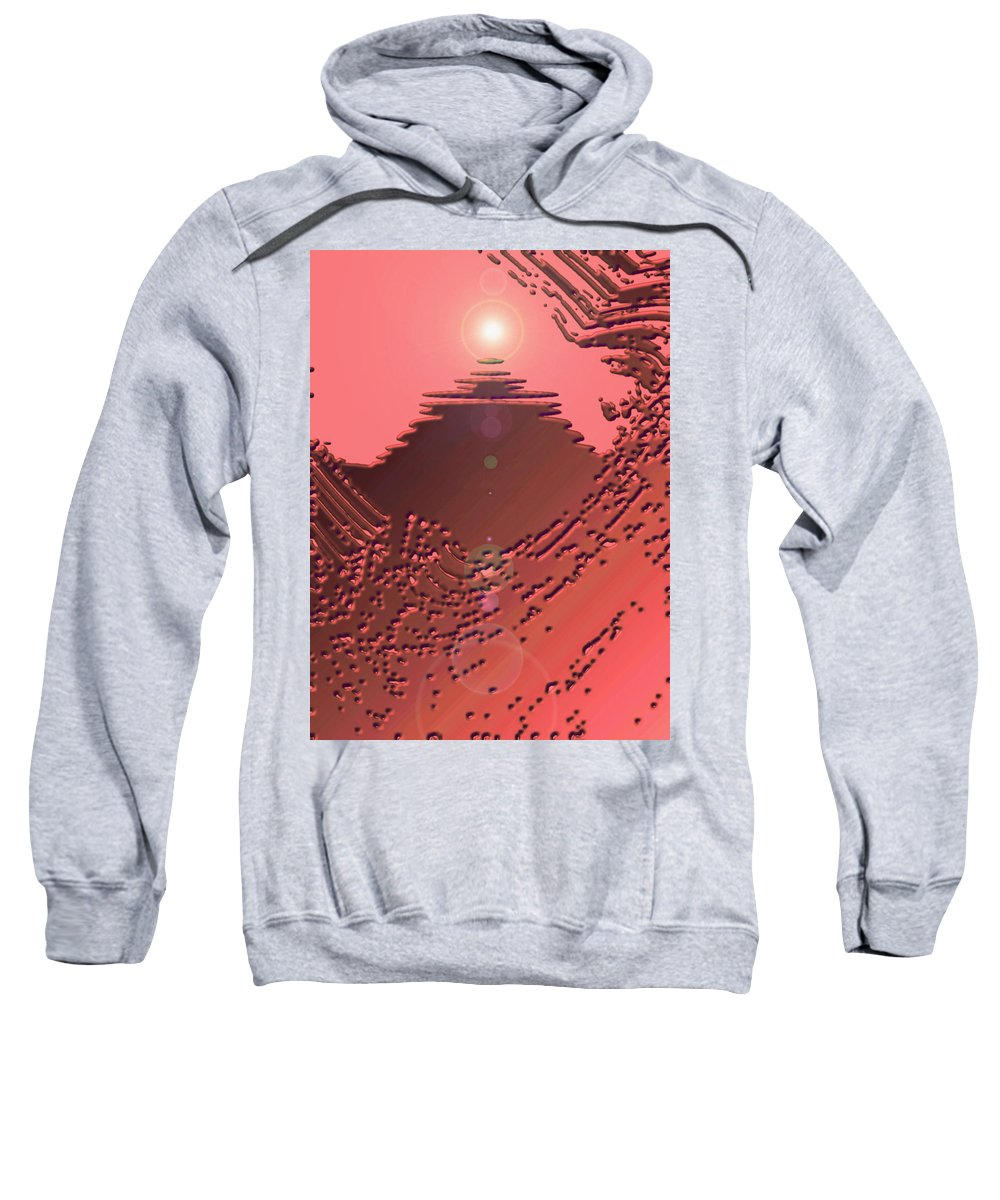 Moveonart! Digital Gallery Sweatshirt featuring the digital art Moveonart Orange Memories Four by Jacob Kanduch