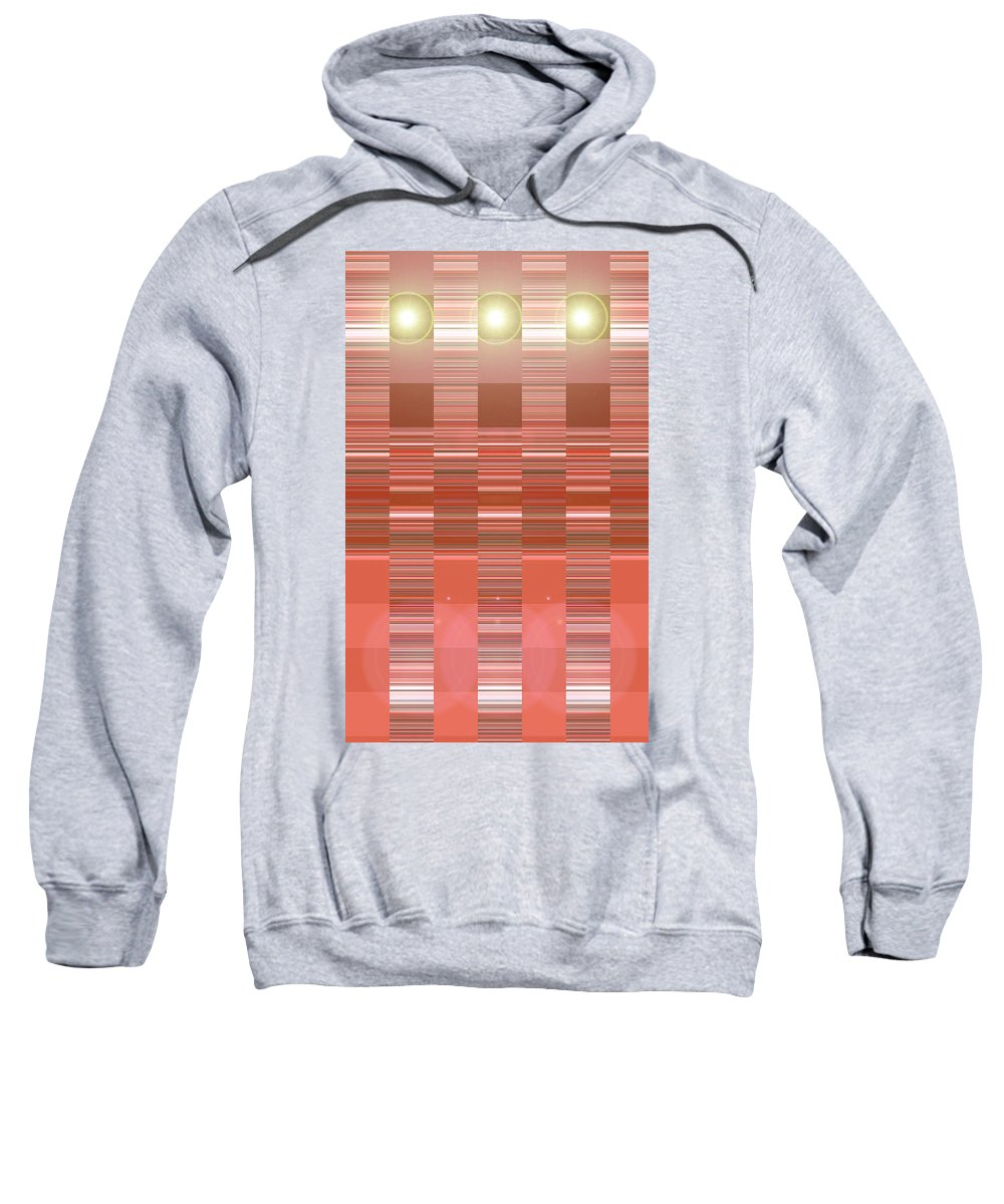 Moveonart! Digital Gallery Sweatshirt featuring the digital art Moveonart Orange Program Seven by Jacob Kanduch
