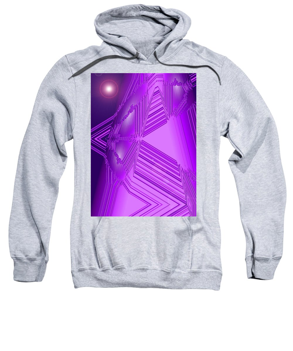 Moveonart! Digital Gallery Sweatshirt featuring the digital art Moveonart Other Worlds One by Jacob Kanduch