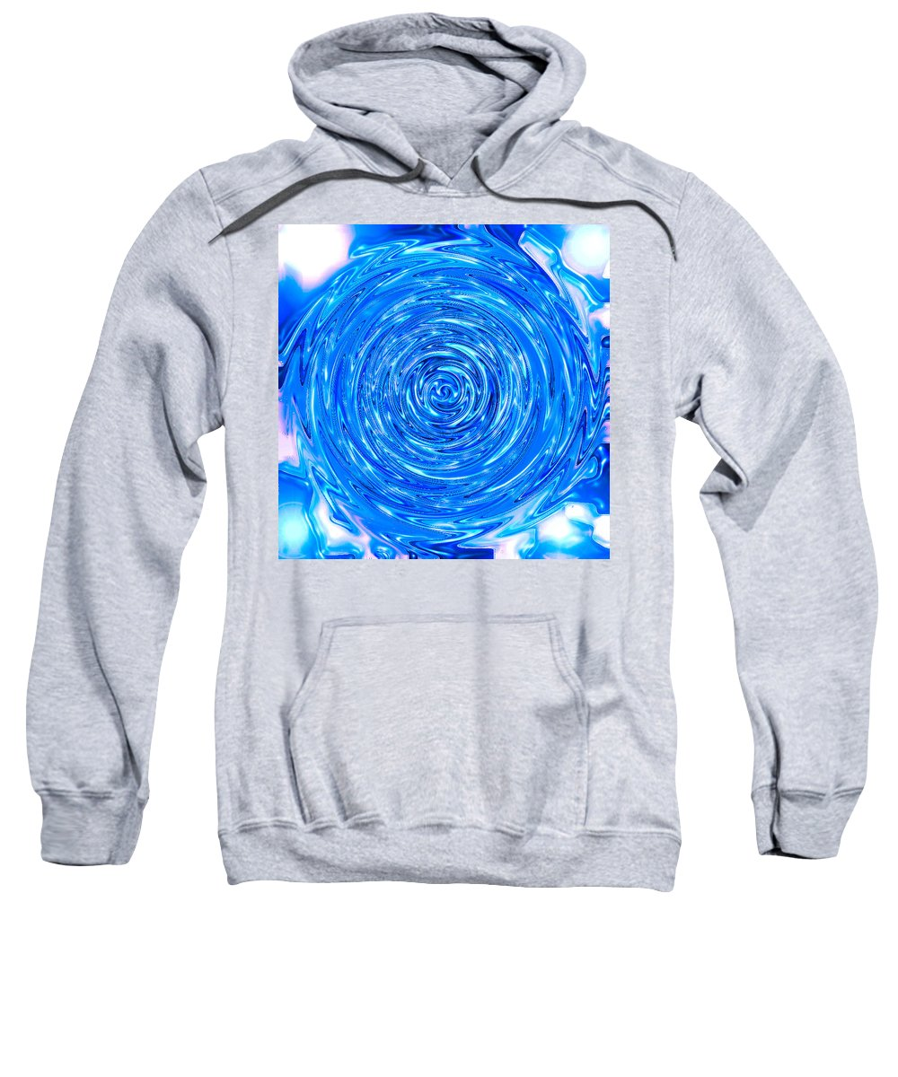 Moveonart! Digital Gallery Sweatshirt featuring the digital art Moveonart Peace Renewal Planet Earth by Jacob Kanduch