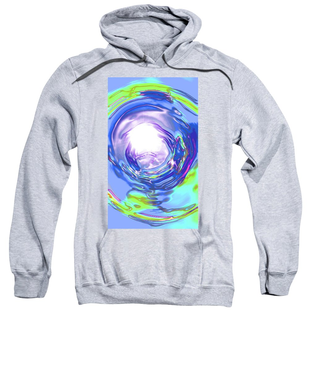 Moveonart! Digital Gallery Sweatshirt featuring the digital art Moveonart Reassurance by Jacob Kanduch