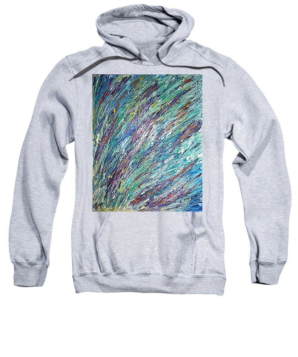 Moveonart! Digital Gallery Sweatshirt featuring the painting Moveonart Spring In San Francisco by Jacob Kanduch