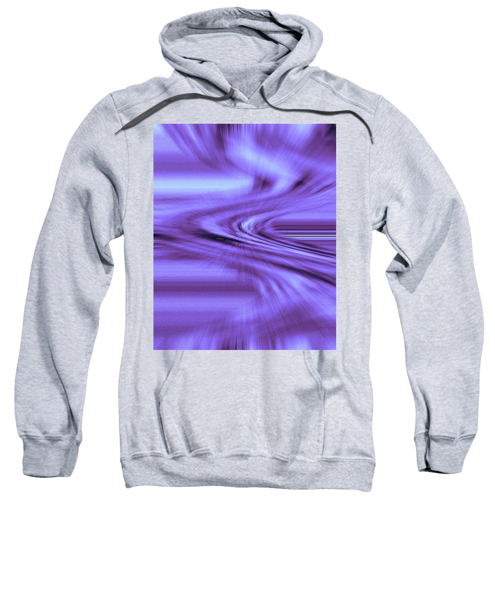 Moveonart! Digital Gallery Sweatshirt featuring the digital art Moveonart Steadfast In Spontaneous Storms by Jacob Kanduch