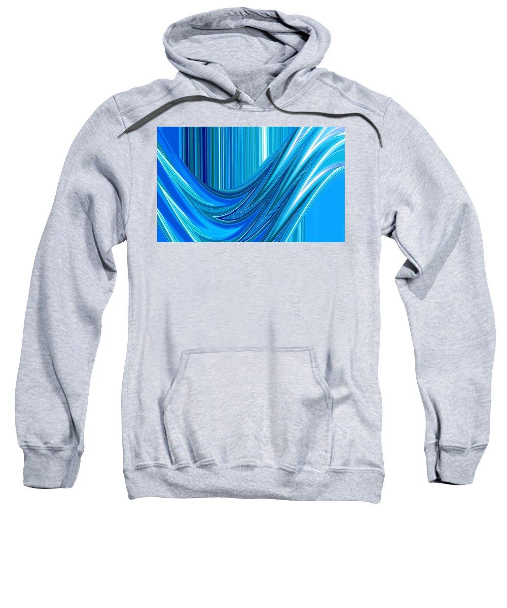 Moveonart! Global Gathering. -- Jacob Kane -- Omnetra Sweatshirt featuring the digital art Moveonart The Blue Wave by Jacob Kanduch
