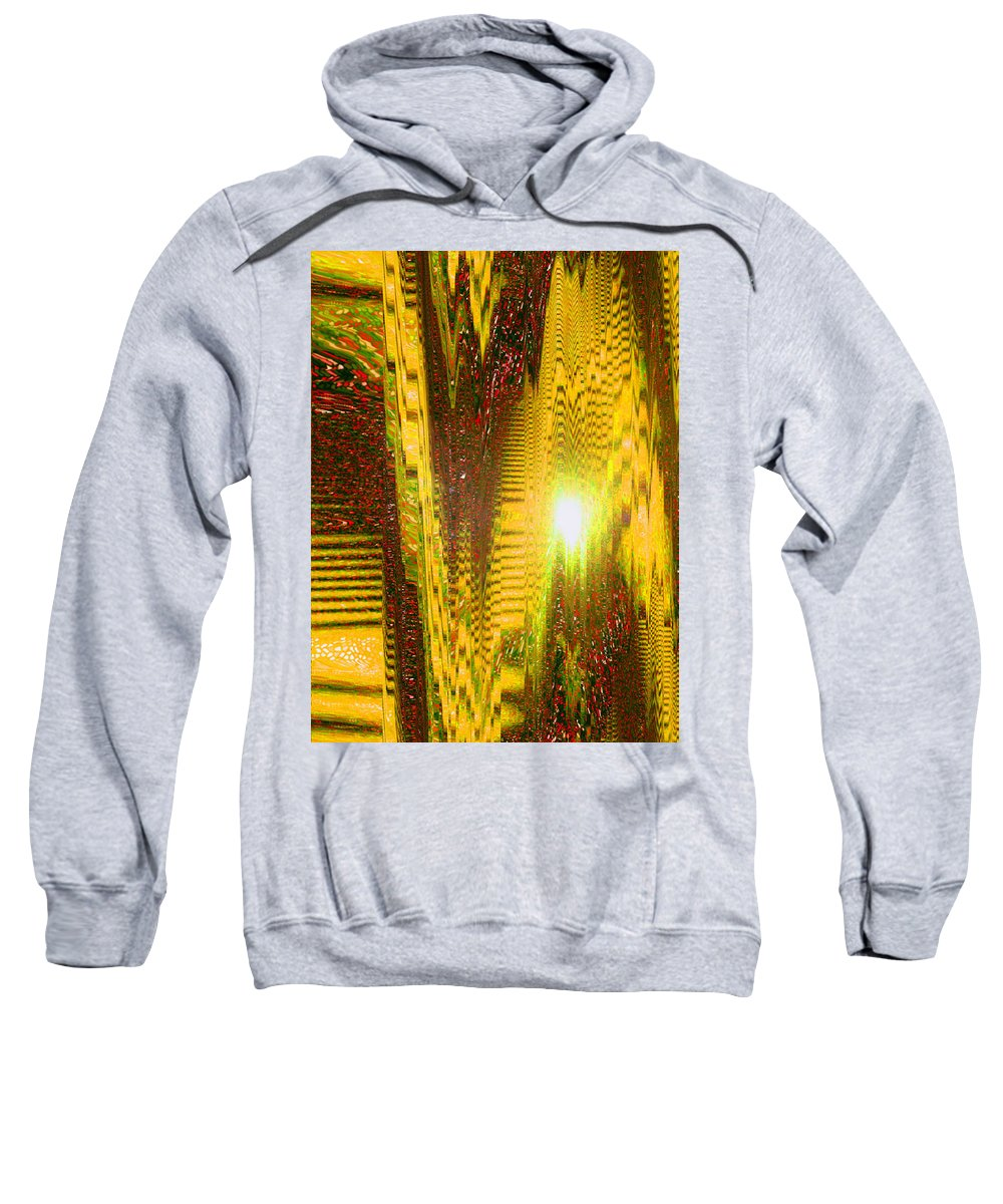 Moveonart! Digital Gallery Sweatshirt featuring the digital art Moveonart The Light Shall Speak by Jacob Kanduch