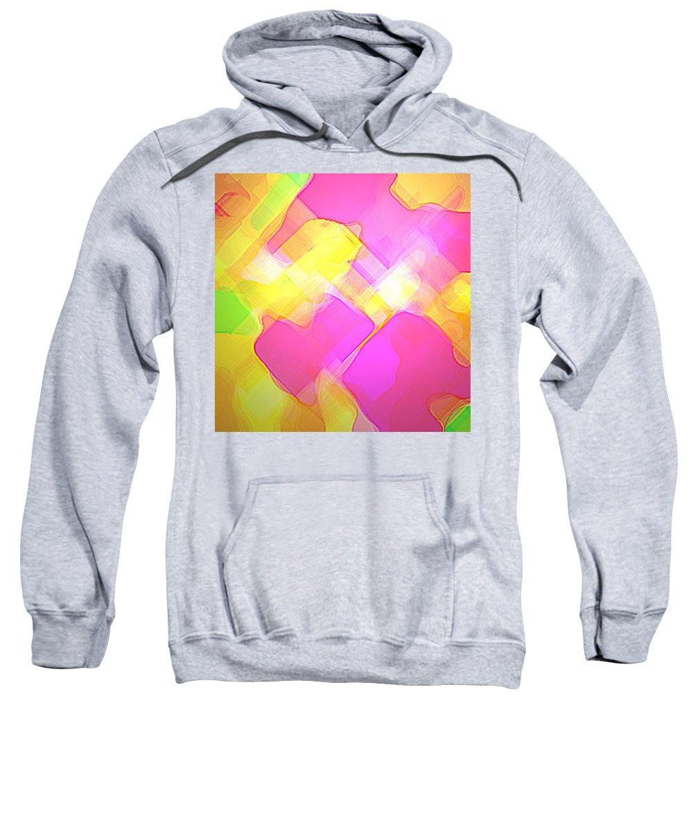 Moveonart! Digital Gallery Sweatshirt featuring the digital art Moveonart Try Not Being Shy by Jacob Kanduch