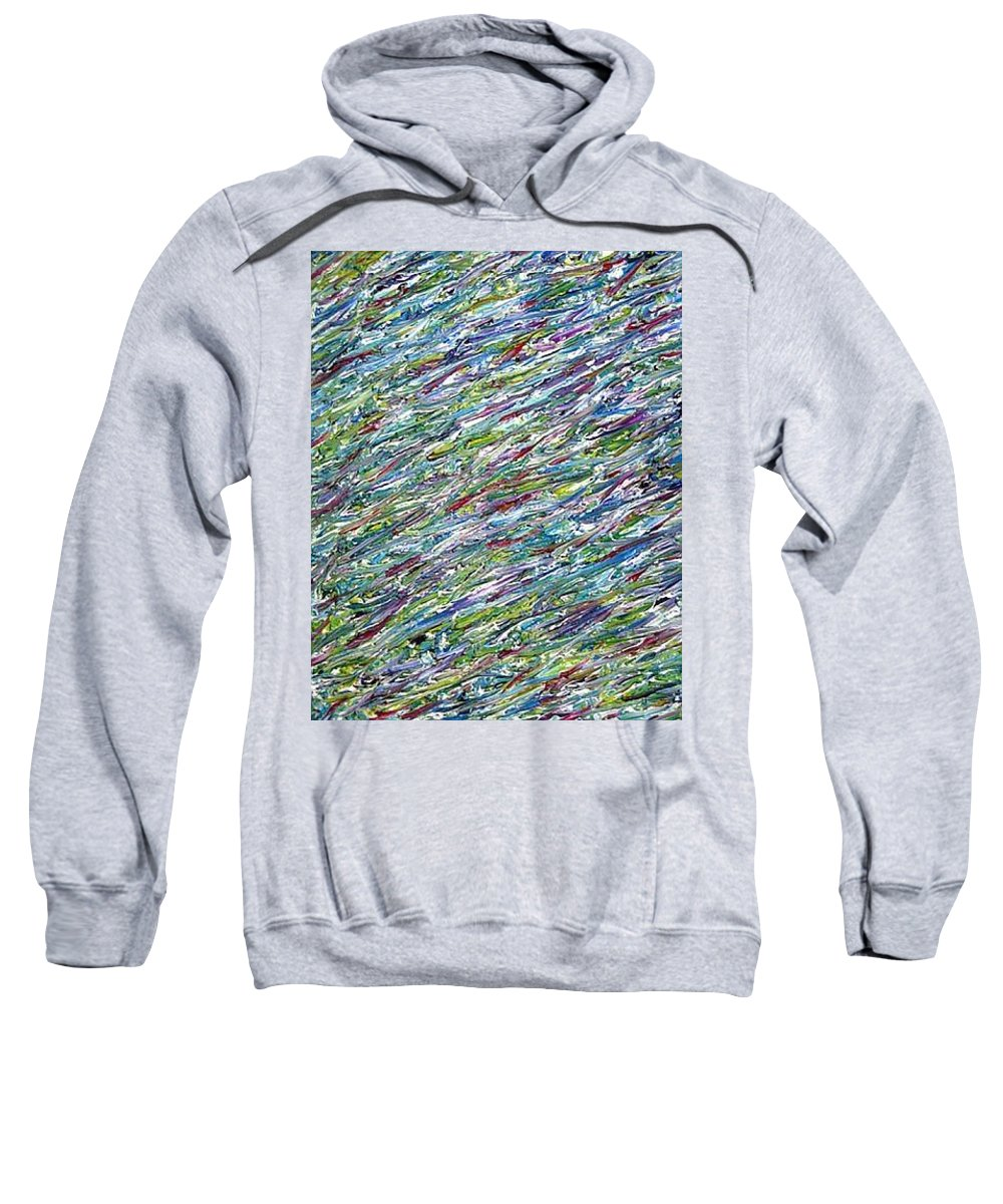 Moveonart! Digital Gallery Sweatshirt featuring the painting Moveonart Untitled 1 2005 by Jacob Kanduch