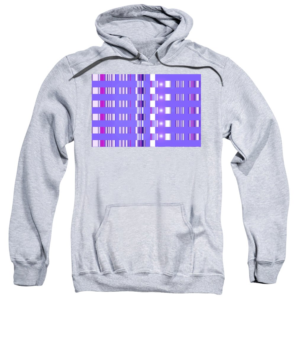 Moveonart! Digital Gallery Sweatshirt featuring the digital art Moveonart Violet Interactive Spiritual Solutions by Jacob Kanduch