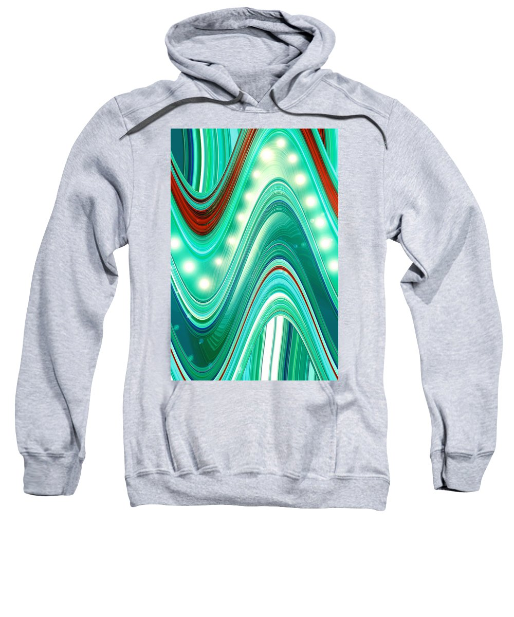 Moveonart! Digital Gallery Sweatshirt featuring the digital art Moveonart Wave Of Enlightenment One by Jacob Kanduch