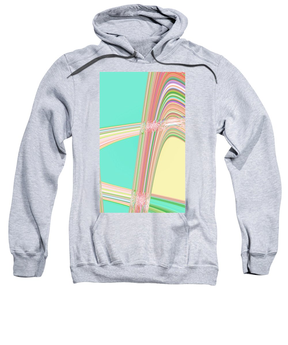 Moveonart! Digital Gallery Sweatshirt featuring the digital art Moveonart Wave Over Me With Calmness by Jacob Kanduch