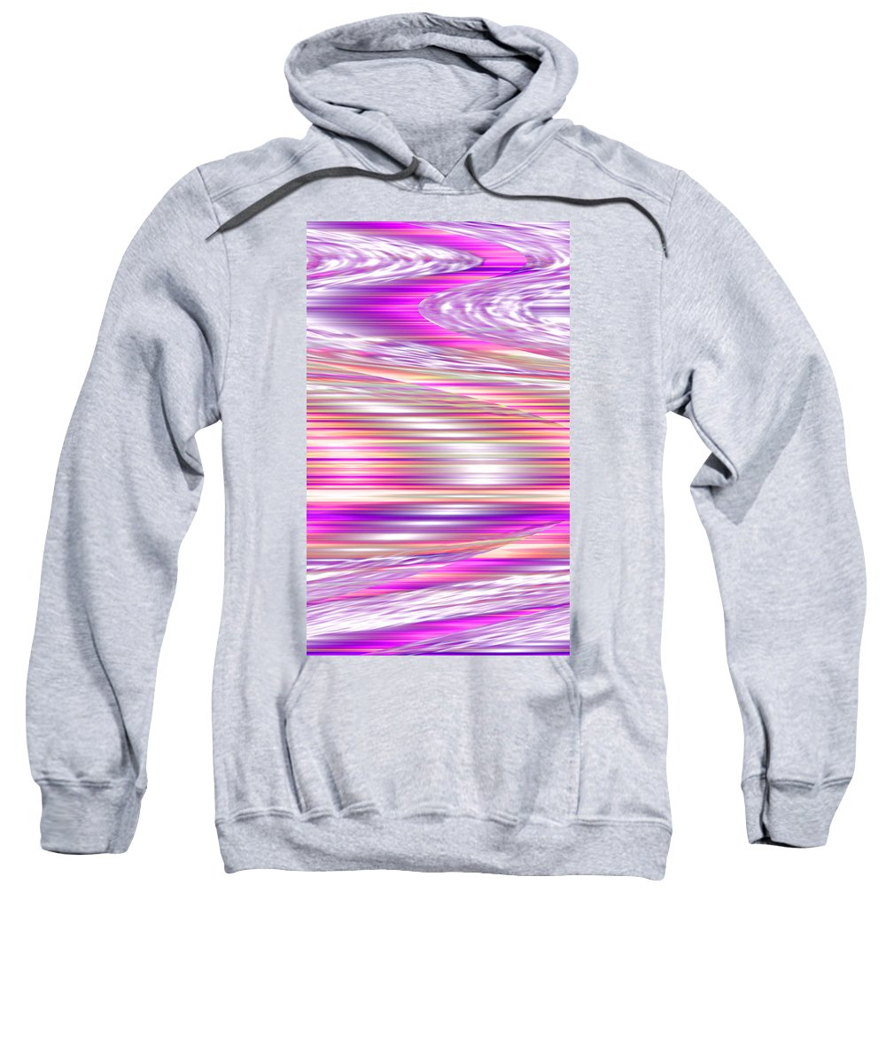 Moveonart! Digital Gallery Sweatshirt featuring the digital art Moveonart Waves Of Enduring Strength by Jacob Kanduch