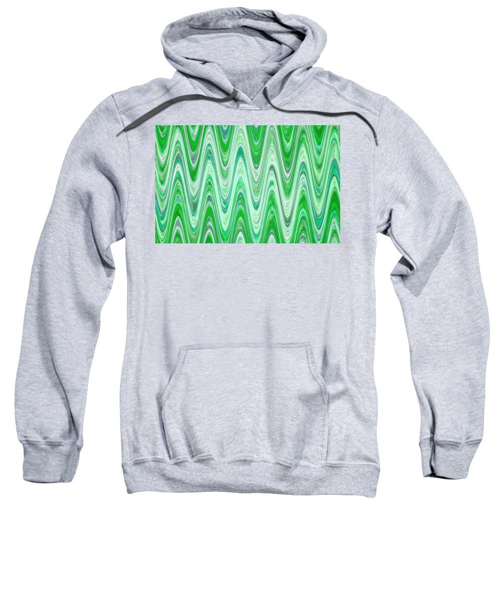Moveonart! Digital Gallery Sweatshirt featuring the digital art Moveonart Waves Of Good Fortune by Jacob Kanduch