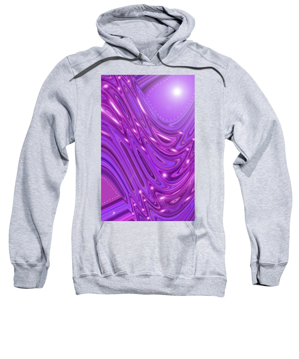 Moveonart! Digital Gallery Sweatshirt featuring the digital art Moveonart Waves Of Royal Provision by Jacob Kanduch