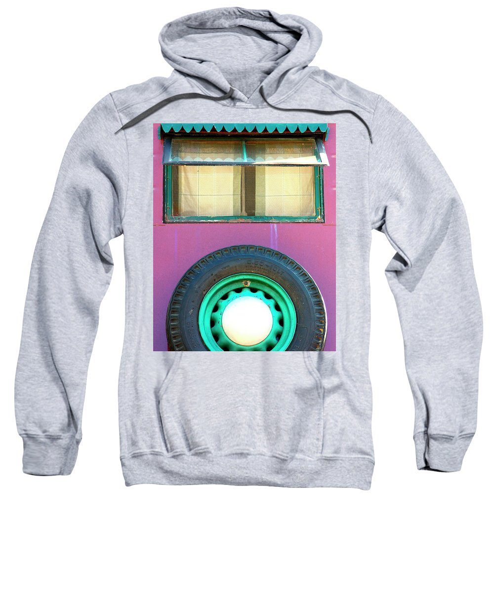 Airstream Sweatshirt featuring the photograph Movin On Palm Springs by William Dey