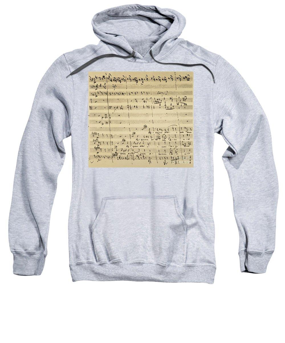 1791 Sweatshirt featuring the photograph Mozart: Requiem Excerpt by Granger