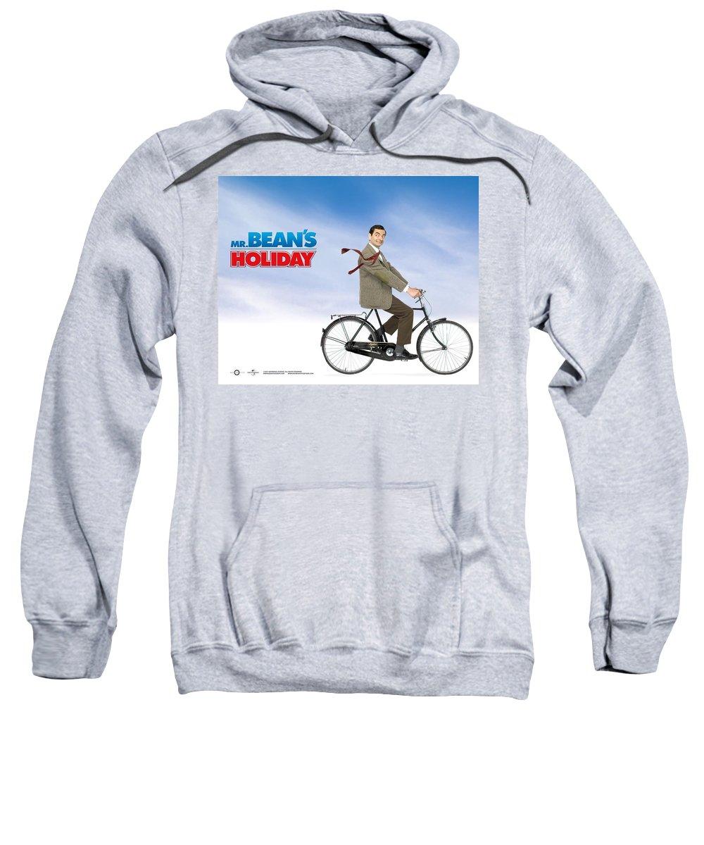 Mr. Bean Sweatshirt featuring the digital art Mr. Bean by Bert Mailer
