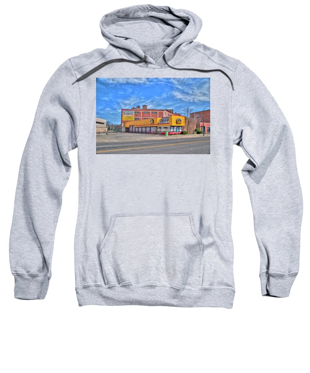 Buildings Sweatshirt featuring the photograph Mr Tire 15117 by Guy Whiteley