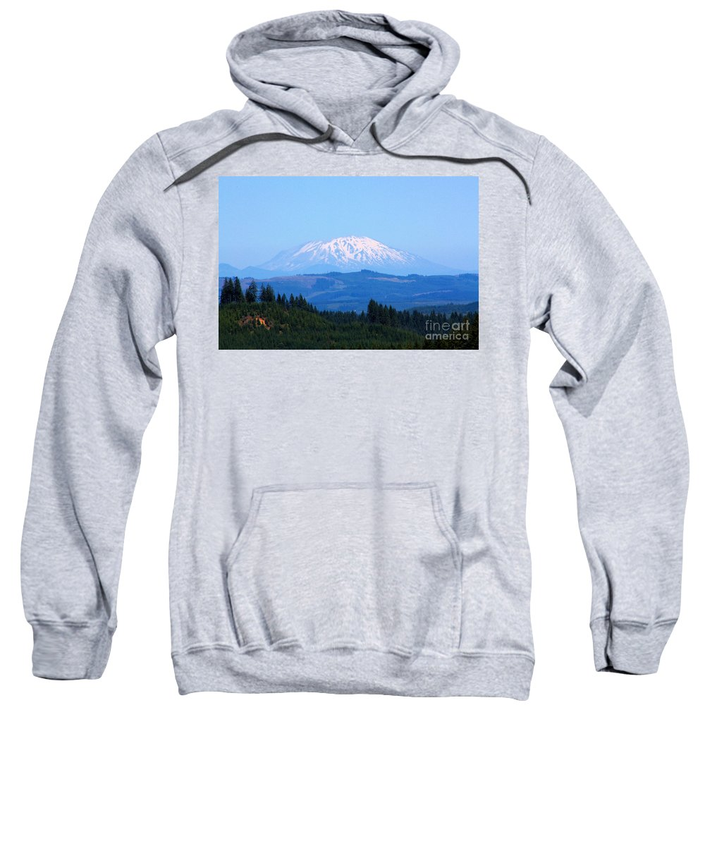 Mountains Sweatshirt featuring the photograph Mt. St. Helens by Nick Gustafson