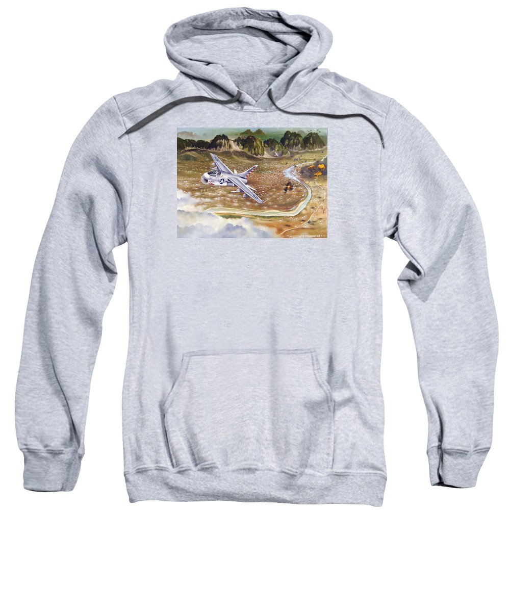 Aviation Sweatshirt featuring the painting Mu Gia Mayhem by Marc Stewart