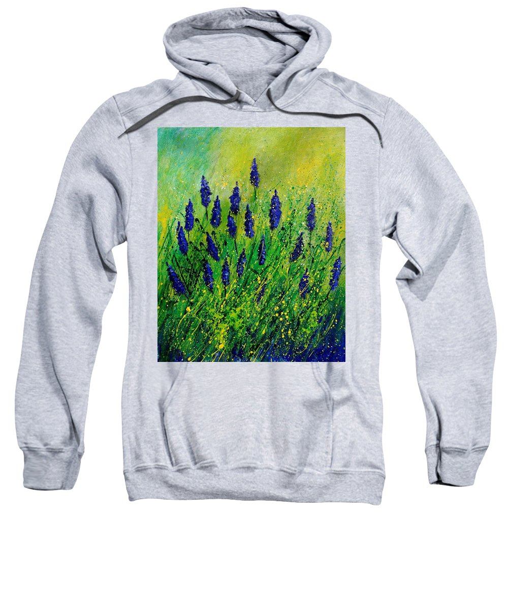 Flowers Sweatshirt featuring the painting Muscaris 4590 by Pol Ledent