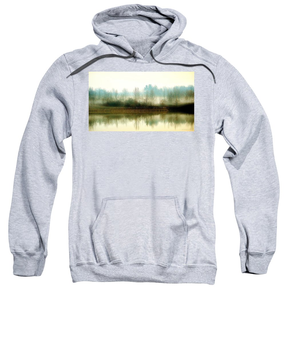 Muscatatuck Sweatshirt featuring the photograph Muscatatuck Morning by J Michael Hamon