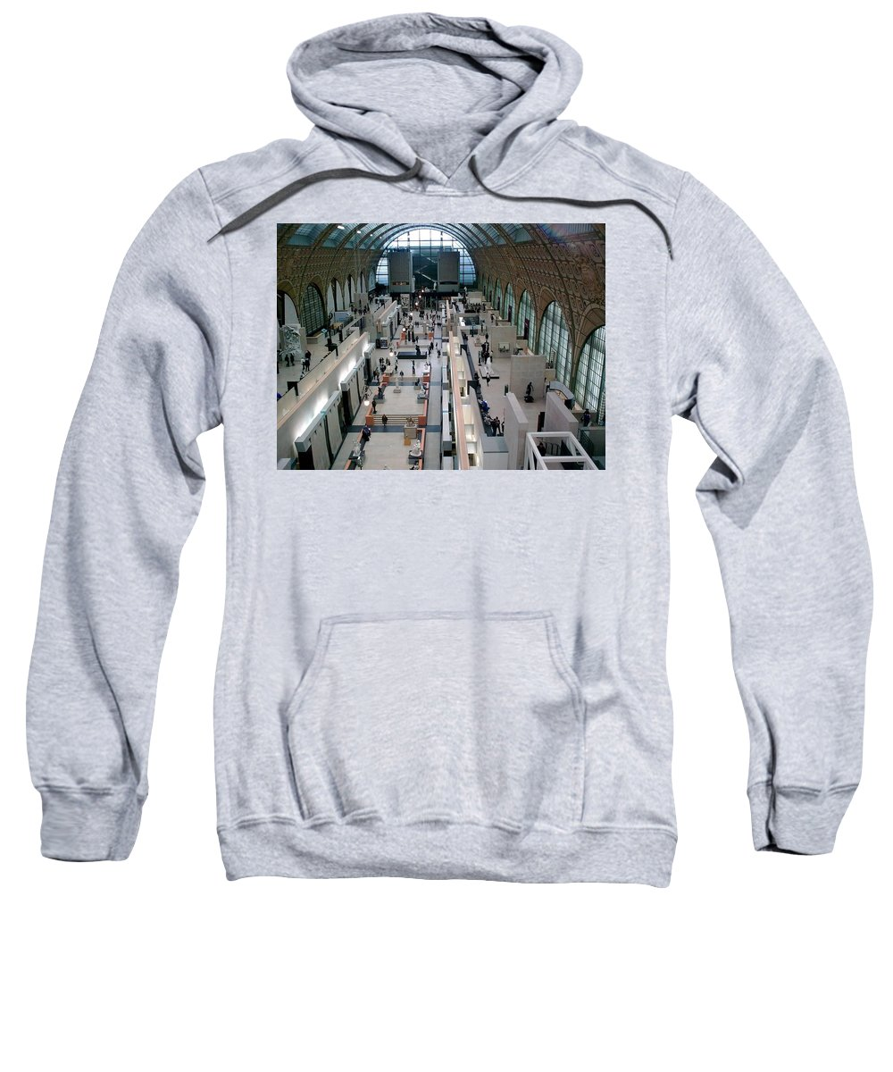 Museum Sweatshirt featuring the photograph Museum D'orsay Paris by Valerie Ornstein