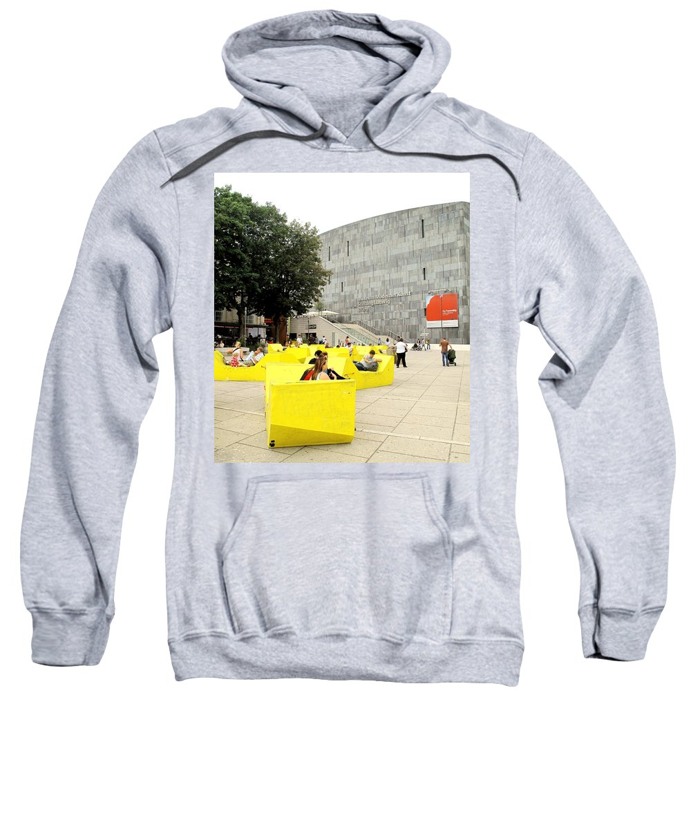 Museum Sweatshirt featuring the photograph Museum Modener Kunst by Ian MacDonald