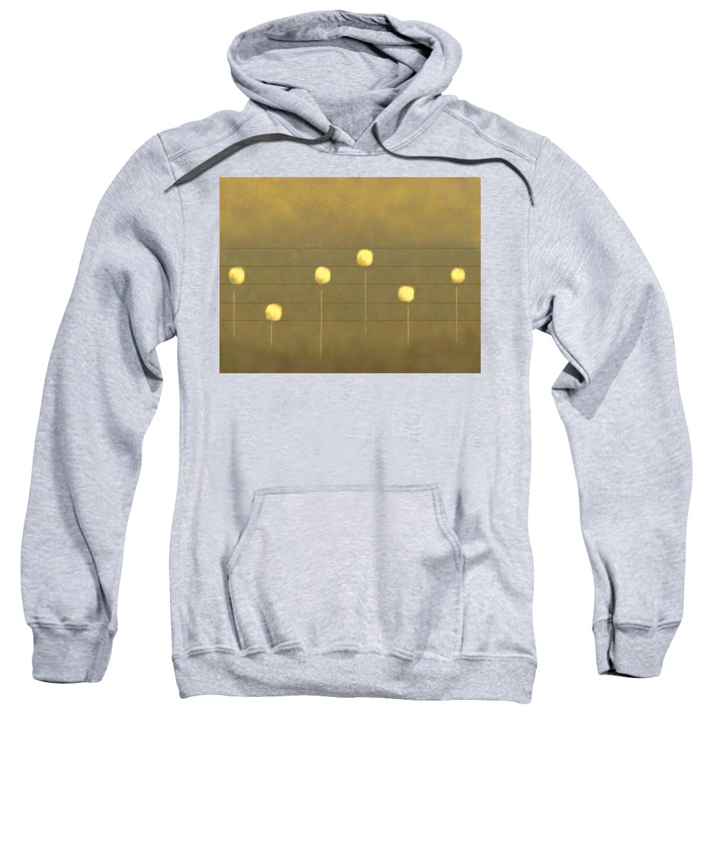 Abstract Digital Sweatshirt featuring the digital art Musical Flowers by Aurora Art
