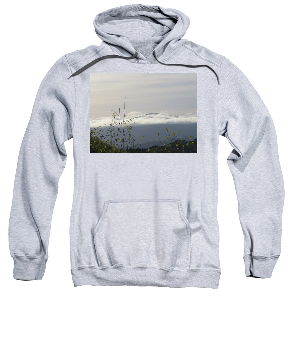 Landscape Sweatshirt featuring the photograph Mustard Weed by Suzanne Leonard
