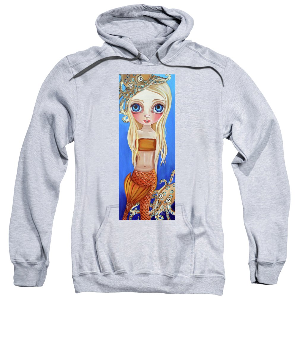 Original Sweatshirt featuring the painting My Blue Ringed Friends by Jaz Higgins