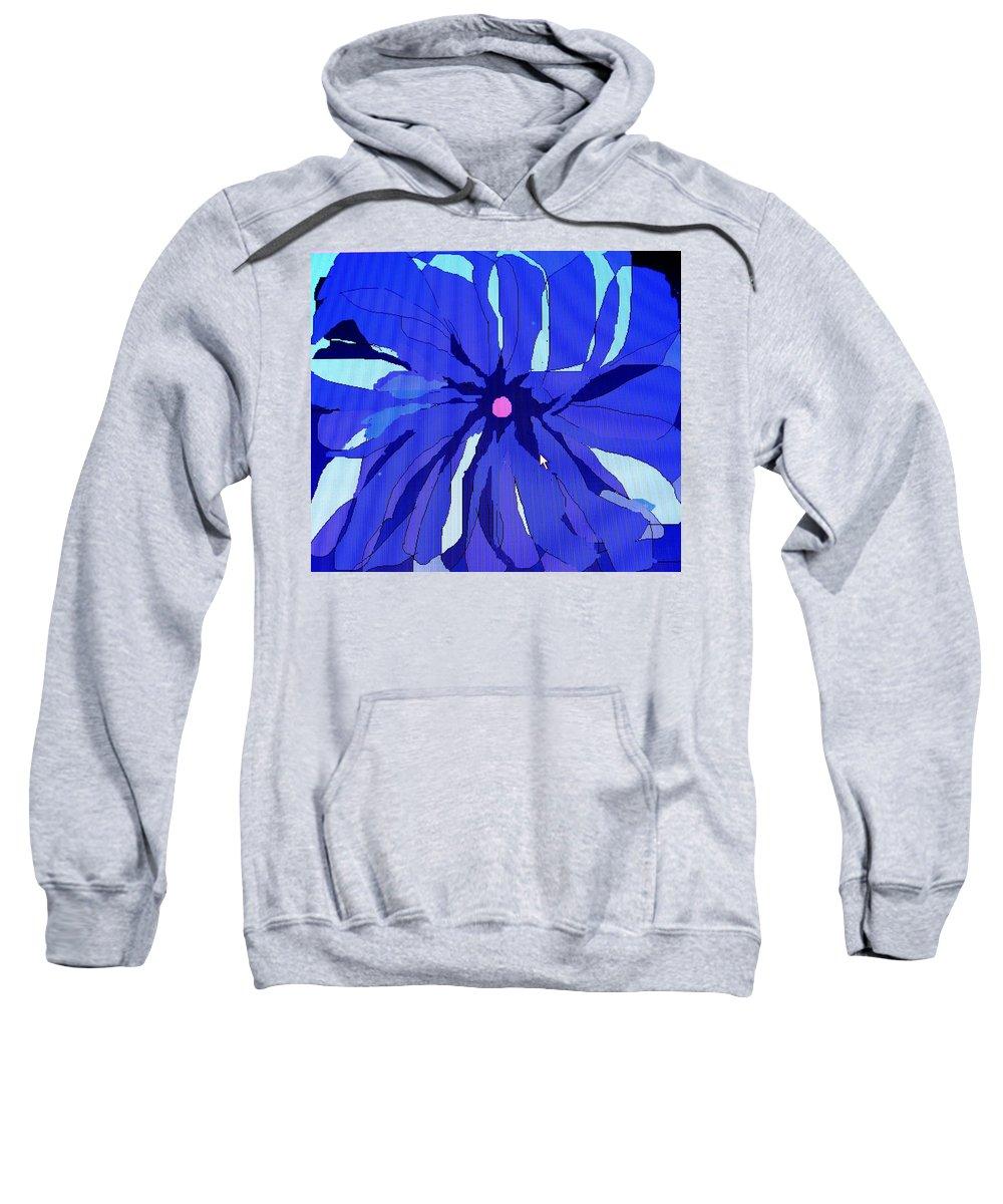 Flower Sweatshirt featuring the digital art My Fantastic Flower by Ian MacDonald