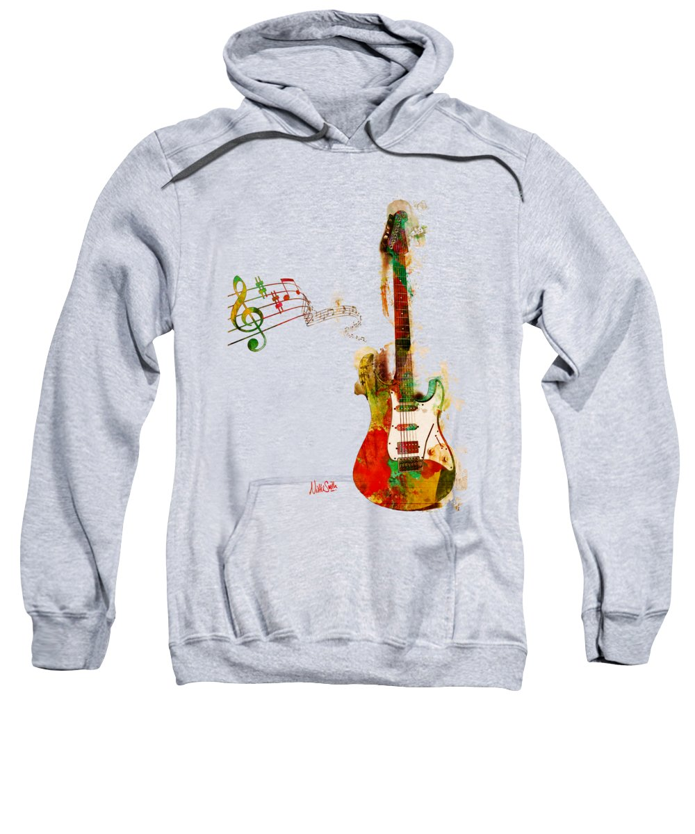 Guitar Sweatshirt featuring the digital art My Guitar Can SING by Nikki Smith