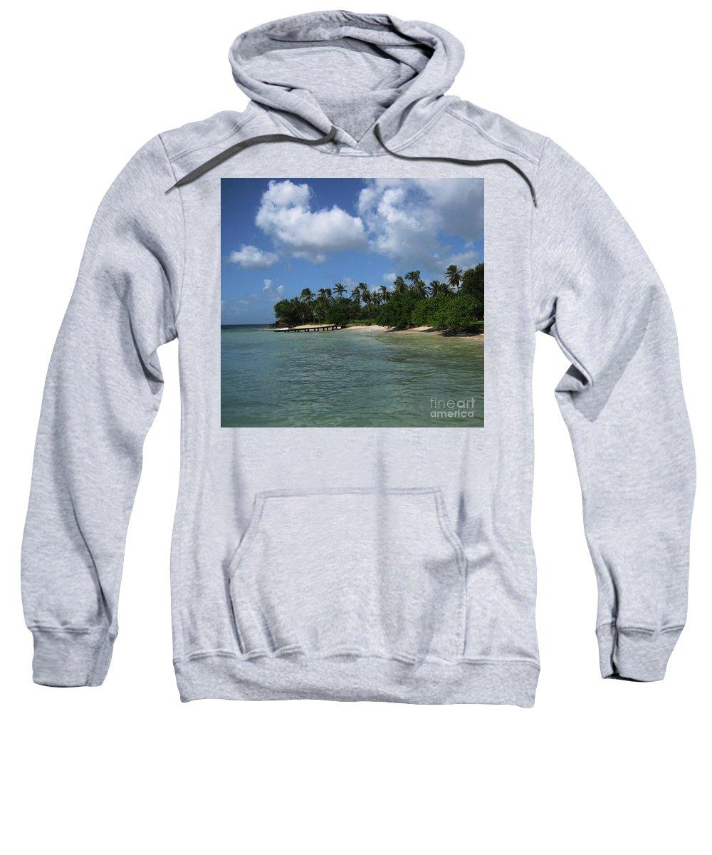 Beach Sweatshirt featuring the photograph My Happy Place by Lori Tambakis