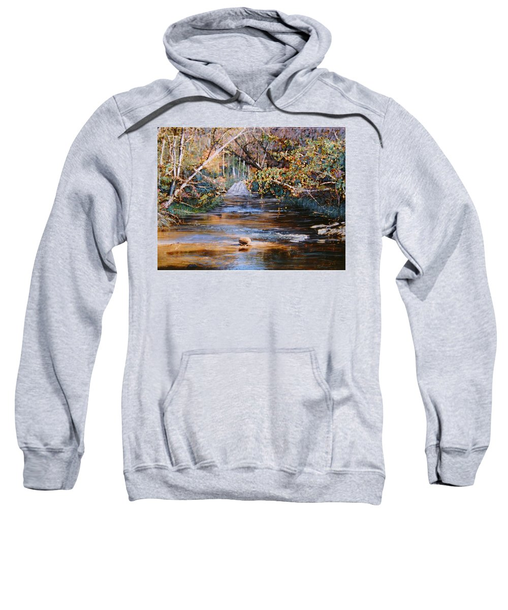 Peace Project Sweatshirt featuring the painting My Secret Place by Ben Kiger